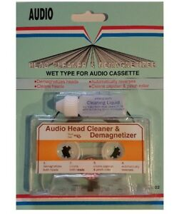 AUDIO-Cassette-Tape-Head-Cleaner-amp-Demagnetizer-WetType-for-Home-FREE-SHIPPING