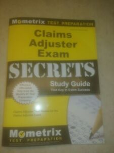 Claims Adjuster Exam Secrets Study Guide no markings great ...