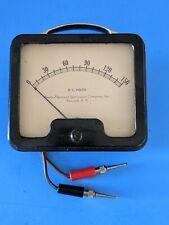 Vintage Beede Electrical Instrument Co Penacook Nh 150 V Dc Volt Gauge A4