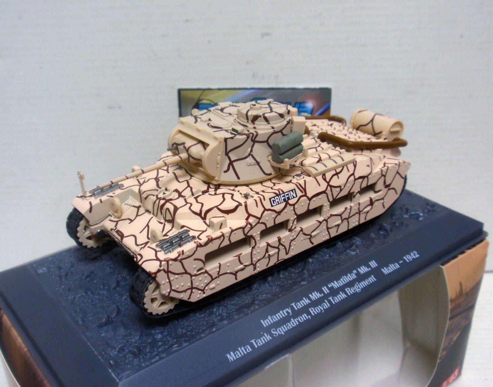 TANQUE TANK INFANTRY Mk II MATILDA Mk III ROYAL TANK MALTA 1942 1 43 ALTAYA