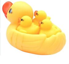 4pcs Baby Bathing Floating Rubber Squeaky Ducks Play Water Bathing Pool Tub Toys