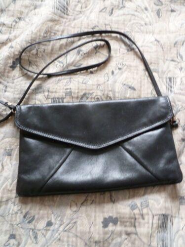 Sac Noir Vintage Cuir Pochette Tbe awrTOanq