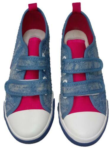 Girls Kids Canvas Pump Hook /& Loop Close Trainer Size 12 13 12 3 4 UK Tie Dye