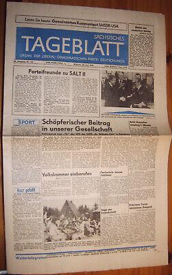 Chemnitz Karl-marx-stadt Zeitung 20.6.1979 Ddr Ldpd Salt-ii-udssr-usa-begrenzung Und Verdauung Hilft