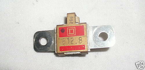 SQUARE D B12.8 Heater Thermal Overload USED