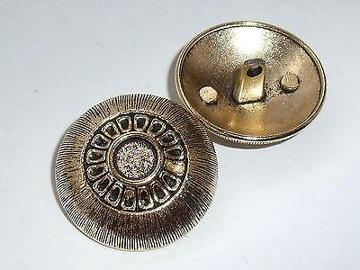8 Trozo De Metal Botones Botón Botones Ojales Botón 15 Mm Oro Viejo Nuevo Inoxidable 0127.1