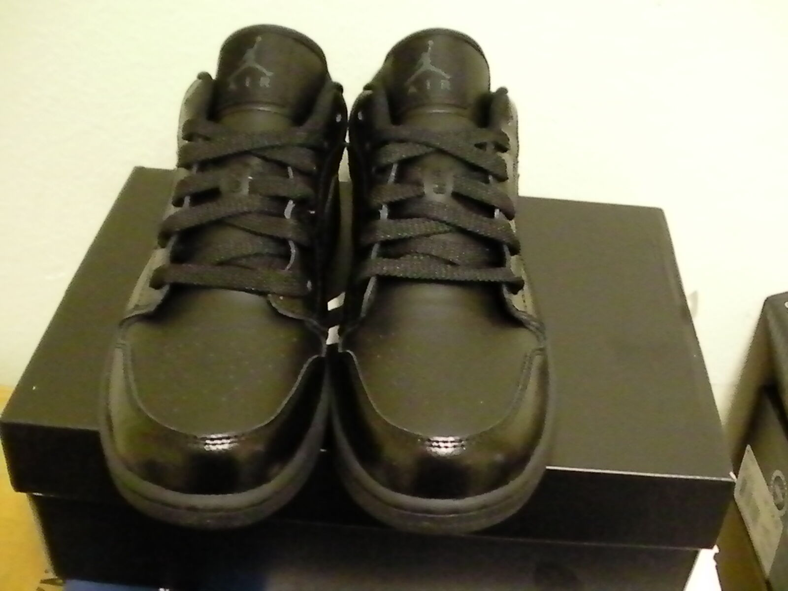 Air jordan 1 low (GS) Dimensione 5Youth = 6.5 6.5 6.5 donna All nero 1dc4ce