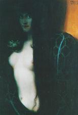"""Franz von Stuck """"Die Sünde"""" 1893 Schlange Erotik Reue Busen Nabel Kunstdruck 10"""