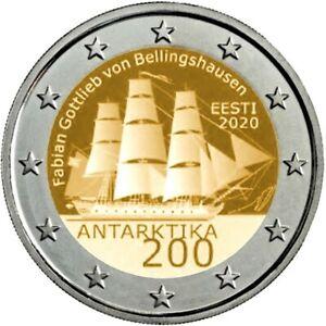 2 Euro Estonie 2020  - Découverte de l'Antarctique