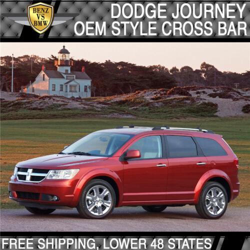 Fit For 09-17 Dodge Journey OE Style Roof Rack Cross Bar Crossbar Black Aluminum