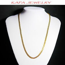 Indian Gold Plated Chain 20in Kapa Jewelry Mens Womens Real Looking  U10
