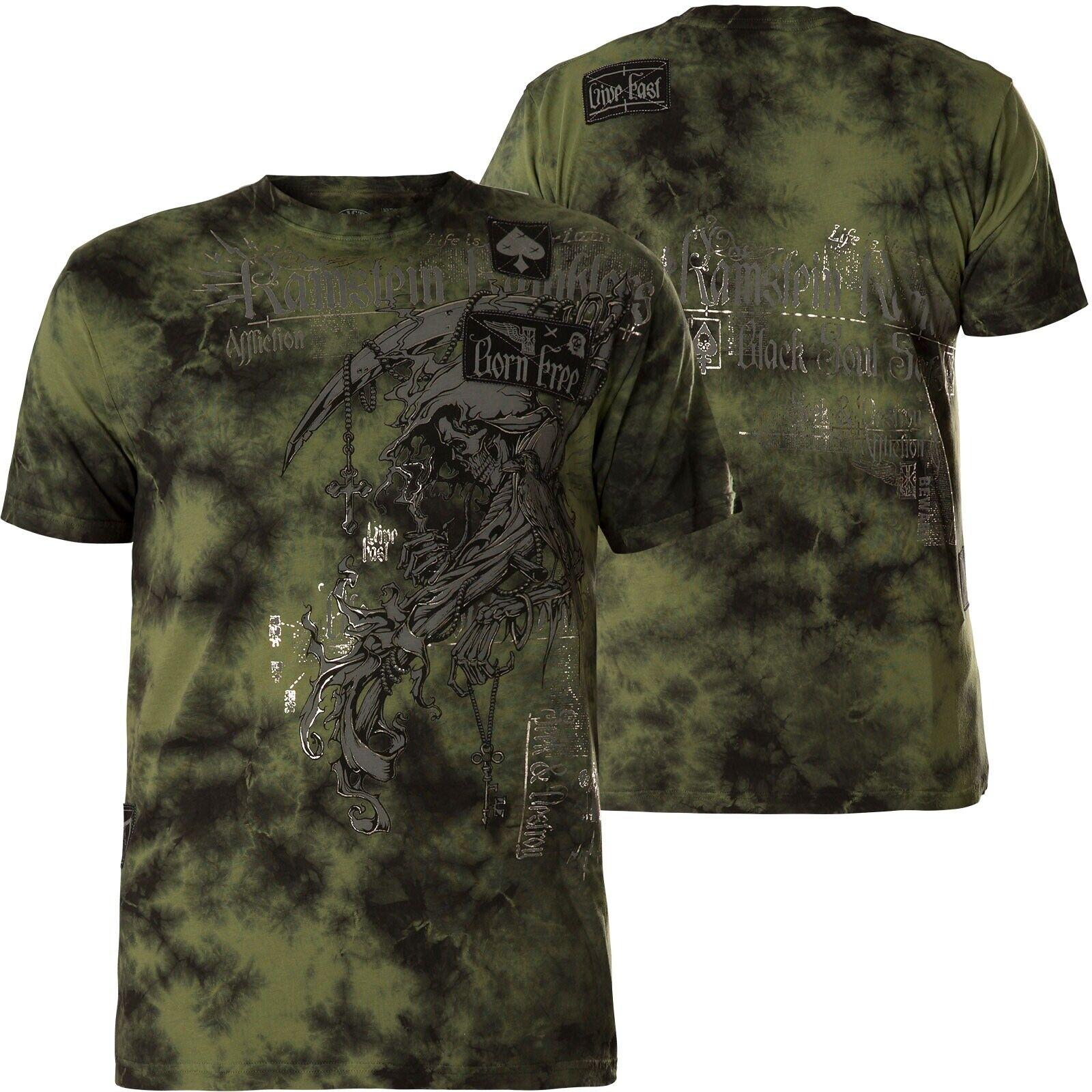 Affliction T-shirt Range verde T-shirts