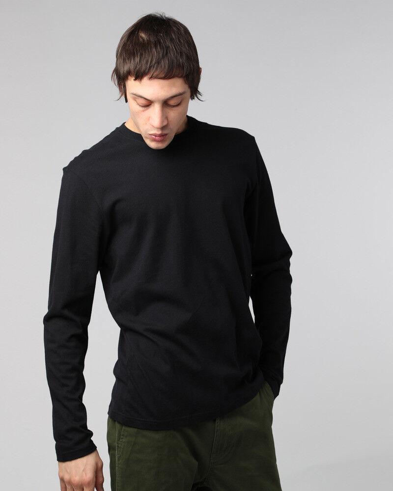 Element Homme T Shirt. nouvel équipage uni coton en coton uni noir à manches longues Top T-shirt 8 S A1 3732 4edcb6