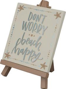 Keep Calm /& Beach On Wood Tabletop Box Plaque Plank Sign Decor