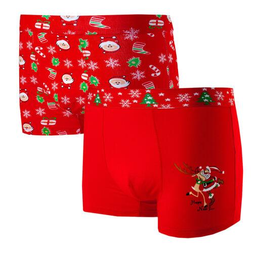 2x Boxershorts Herren Weihnachtenunterhose Witz Geschenkidee M-3XL