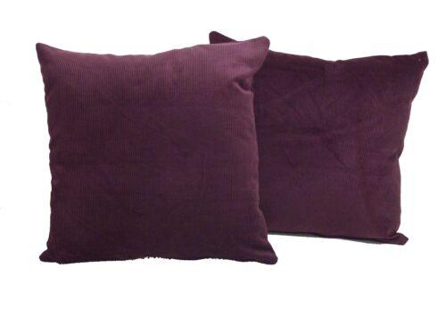 Lot de 2 Cordon Coussins 6 couleurs disponibles-complet avec Inserts