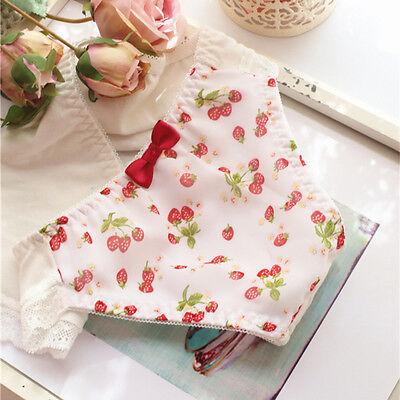 Bow Sweet Chiffon Lolita Strawberry Panties Underwear Japanese Cute Lady's Fairy