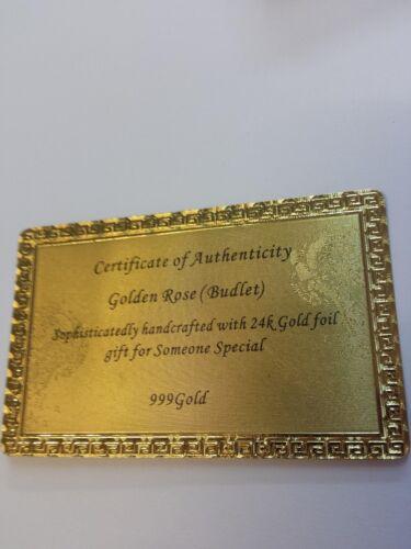 Goldene Vergoldete Gold Rose STÄNDER Hochzeit Jahrestag Valentinstag Geschenk