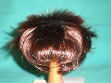 "doll wig reddish brown 10"" to 10.5"" Glorex  spikey hair"