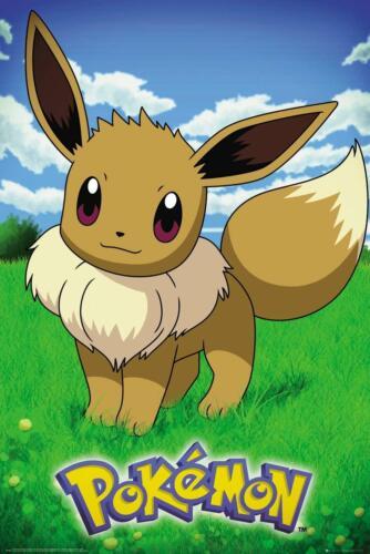 Pokemon Eevee Maxi Poster  61 x 91.5 cm Anime Japanese Animation Cartoon