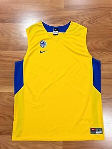 RARE NIKE MACCABI TEL AVIV BASKETBALL GAME JERSEY ISRAEL FIBA EUROLEAGUE L