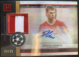2020-21 Topps Museum UEFA Champions Joshua Kimmich Auto Relic Ruby /25