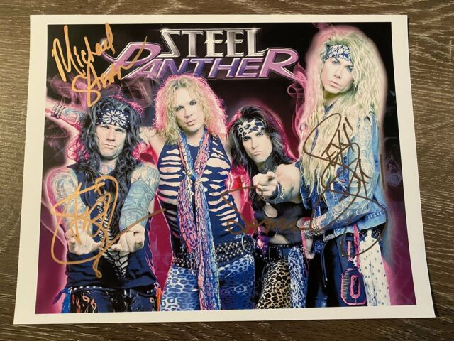 Steel Panther Autographed 8x10 Photo