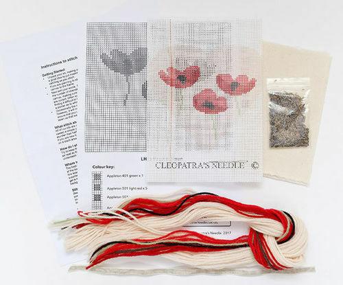 Tapestry Kit amapolas Lavanda Corazón