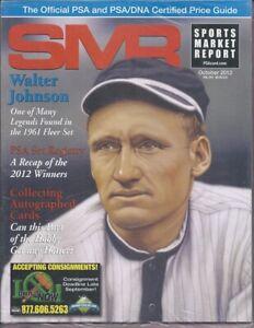 SMR-2012-OCT-PSA-Walter-Johnson-1961-Fleer-2012-Winners-Autographed-Cards-Hot
