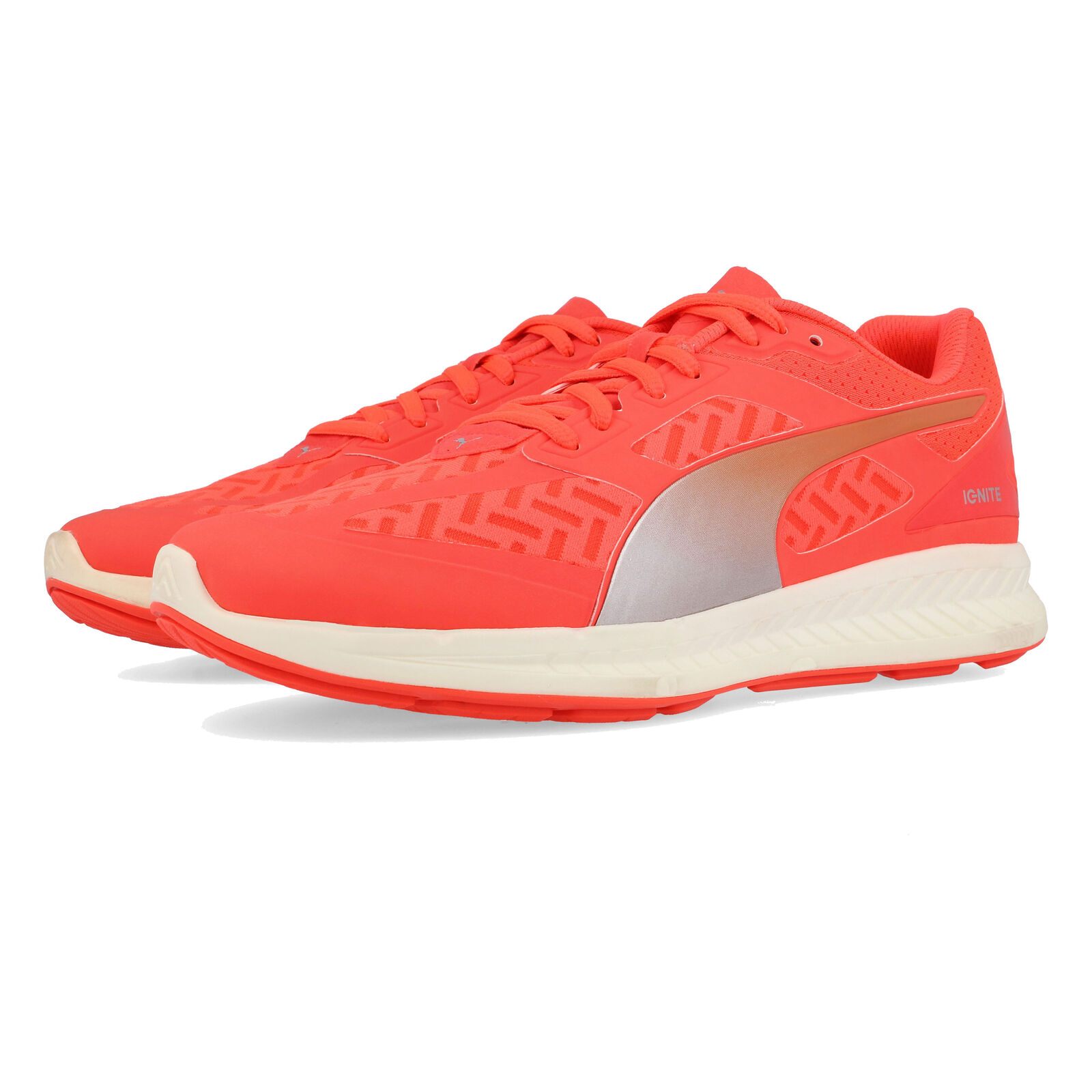 Puma Mens IGNITE PWRCool Running shoes Trainers Sneakers Red Sports Breathable