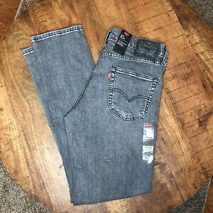 Levi-039-s-511-Slim-Jeans-Stretch-Black-Distress-045111919-Mens-Size-32x32