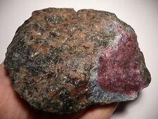 RUBIN in KYANIT, BIOTIT, GRANAT Roh (360gr) Ruby in Kyanite, Biotite, Garnet #1