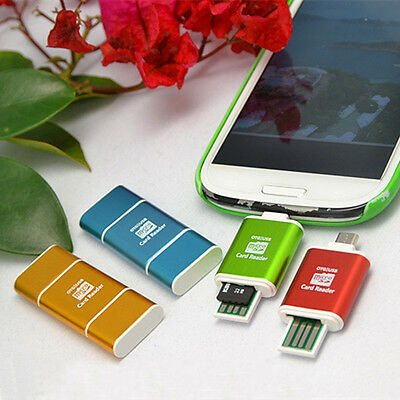 2IN1 Micro USB 2.0 OTG SD MMC Memory Card Reader For Android Smartphone PAD PC