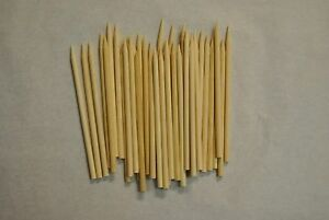 "Candy, Gum & Chocolate Food & Beverages Special Section 50 Wood Skewers Wooden Fruit Meat Thin Sticks 4.5"" X 11/64 semi-pointed Wrs45 A Complete Range Of Specifications"