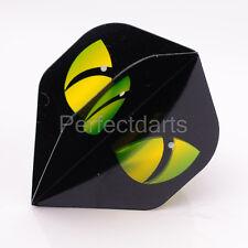 5 x SETS R4X RUTHLESS CATS EYES BLACK GREEN DART FLIGHTS - Extra Strong Standard