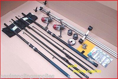Carbo14 ft// 4.2m Sea Fishing Beach Beachcasting Rods Reels Tripod Tackle Kit Set