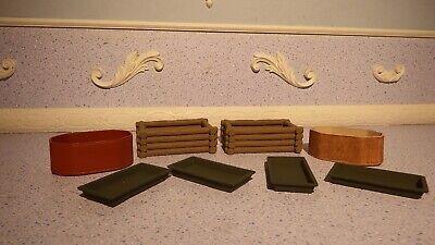 8 Maison de Poupées Assortiment Job Lot of mixed plante//rempotage pots objets 1.12th JB