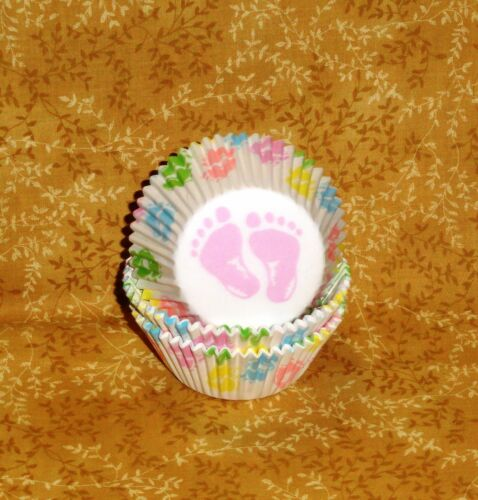 Baby Feet Shower Cupcake Paper,Standard Size,Paper,Wilton,Multi-color,415-113