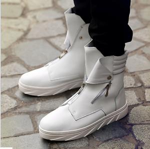 botas al tobillo para Hombre Tobillo Alto Zapatillas Zapatos Coreano cremalleras Athletic Sporst Bomba de 3 Colors