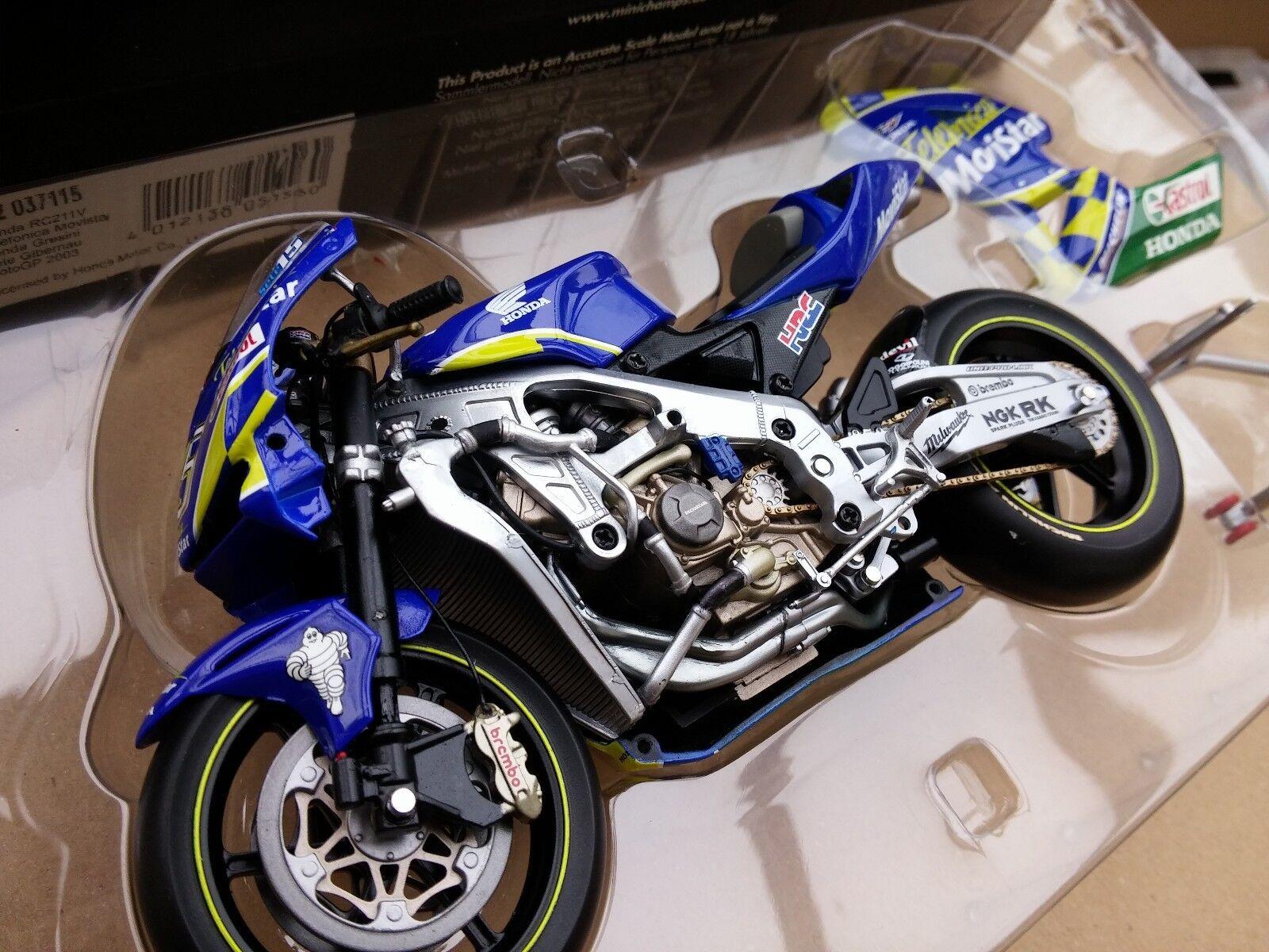 MINICHAMPS 122 037115 HONDA RC211V model bike Sete Gibernau Gibernau Gibernau MotoGP 2003 1 12th 569e33