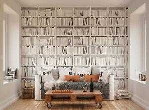 Ohpopsi Modern Minimalist Bookcase Wall Mural 603404669950