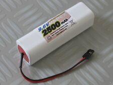 Vapextech RC Transmitter Instant 9.6v 2500mAh Square Battery - Futaba Plug