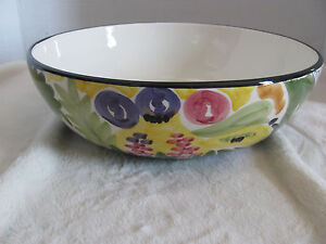 Favanol-Martinique-Hand-Painted-in-Portugal-10-034-Round-Vegetable-Serving-Bowl-s