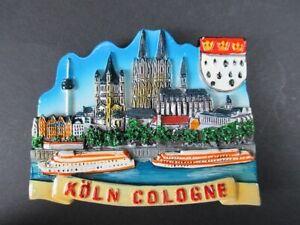 Magnet-Koeln-Dom-Cologne-Poly-Relief-7-cm-Germany-Souvenir-NEU