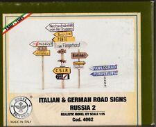 MODEL VICTORIA 4062 - ITALIAN & GERMAN ROAD SIGNS RUSSIA 2 - 1/35 RESIN KIT