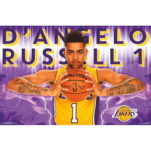 LA Lakers - D'Angelo Russell 2016 POSTER 57x86cm NEW * NBA Basketball Player
