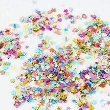 Lot/5000Pcs Mixed Glitter Flower Heart Star Sequins Nail Art DIY Stickers Decal