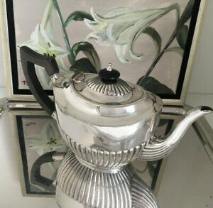 Teekanne Queen Anne Sheffield Silber plated englische Kanne zur Dekoration antik
