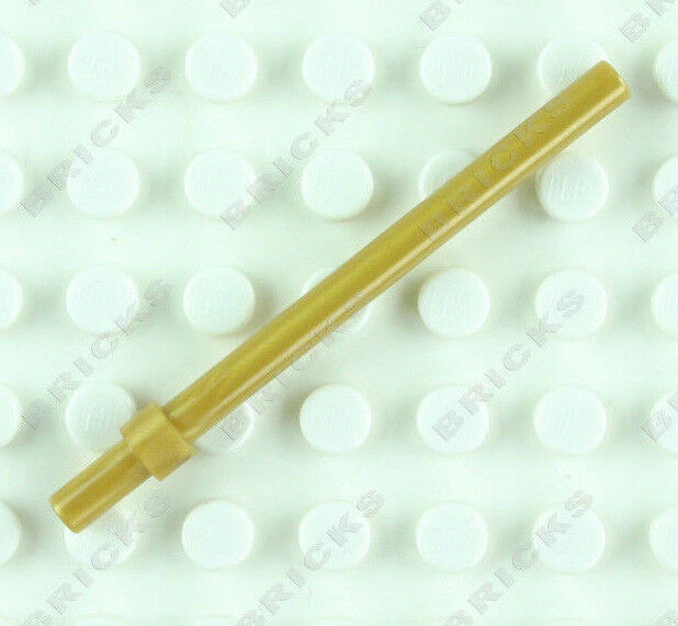 Lego 5 New Pearl Gold Bar 6L with Stop Ring Pieces