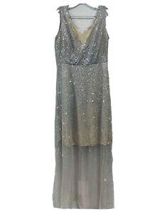 Shimmer & Sparkle Tule Diamond Blush Elegant Maxi Sleeveless NO SIZE Dress